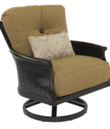 English Garden Cushioned Lounge Swivel Rocker