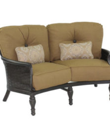 English Garden Cushioned Crescent Loveseat