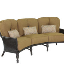 English Garden Cushioned Crescent Sofa