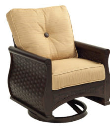 French Quarter Cushioned Swivel Rocker