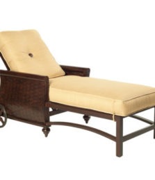 French Quarter Cushioned Chaise Lounge