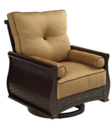 French Quarter Cushioned Lounge Swivel Rocker