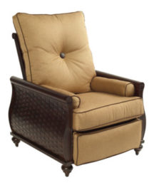 French Quarter 3 Position Cushioned Recliner Chair