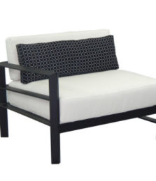 Vertice Cushioned Right End Lounge Chair