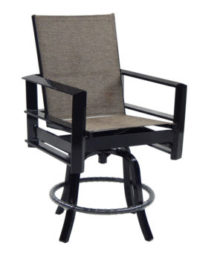 Vertice High Back Sling Swivel Counter Stool