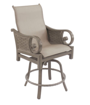 Riviera High Back Sling Swivel Counter Stool