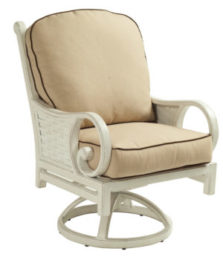 Riviera Cushioned Swivel Rocker