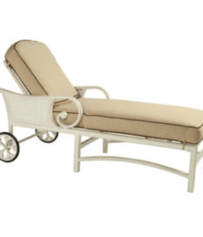 Riviera Cushioned Chaise Lounge