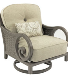 Riviera Cushioned Lounge Swivel Rocker
