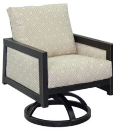 Gold Coast City Cushioned Swivel Rocker