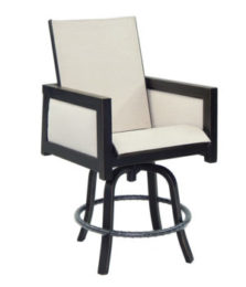 Gold Coast City High Back Sling Swivel Counter Stool