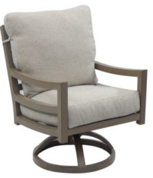 Roma City Cushioned Swivel Rocker