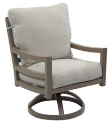 Roma Cushioned Swivel Rocker