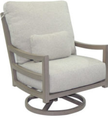 Roma Cushioned High Back Lounge Swivel Rocker