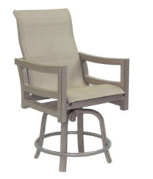 Roma High Back Sling Swivel Counter Stool