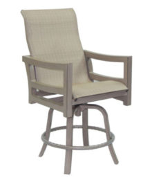 Roma High Back Sling Swivel Bar Stool