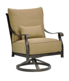 Madrid High Back Cushioned Lounge Swivel Rocker