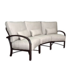 Meridian Cushioned Crescent Sofa