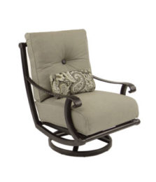 Telluride High Back Cushioned Lounge Swivel Rocker