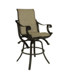 Telluride High Back Sling Swivel Bar Stool