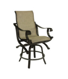 Telluride High Back Sling Swivel Counter Stool