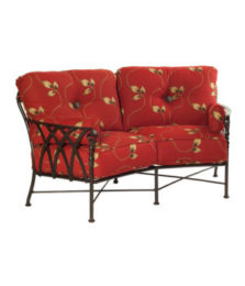 Veranda Cushioned Crescent Loveseat