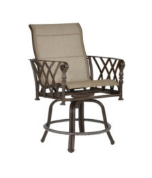 Veranda High Back Sling Swivel Counter Stool