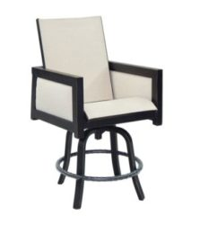 Gold Coast High Back Sling Swivel Bar Stool