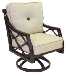 Villa Bianca Cushioned Swivel Rocker