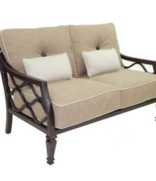 Villa Bianca Cushioned Loveseat