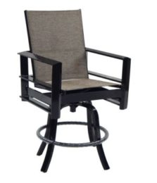 Vertice High Back Sling Swivel Bar Stool