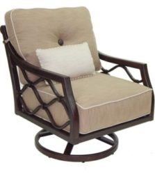 Villa Bianca Cushioned Lounge Swivel Rocker