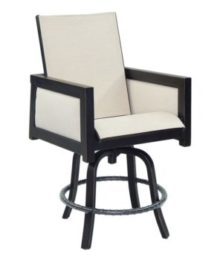Gold Coast High Back Sling Swivel Counter Stool