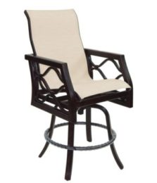 Villa Bianca High Back Sling Swivel Counter Stool