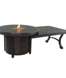 Classical Round Firepit W/32″ x 48″ Coffee Table