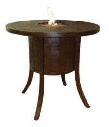 Classical Round Firepit Bar Table