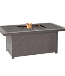 Classical Rectangular Firepit Coffee Table