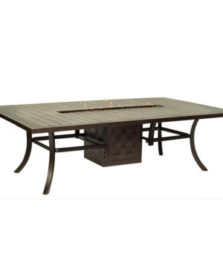 Classical Rectangular Firepit Dining Table