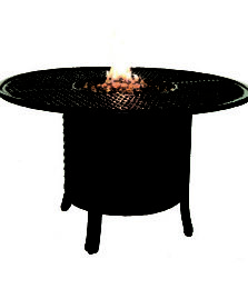COCO ISLE ROUND FIREPIT DINING TABLE