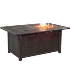 COCO ISLE RECTANGULAR FIRE AND ICE COFFEE TABLE