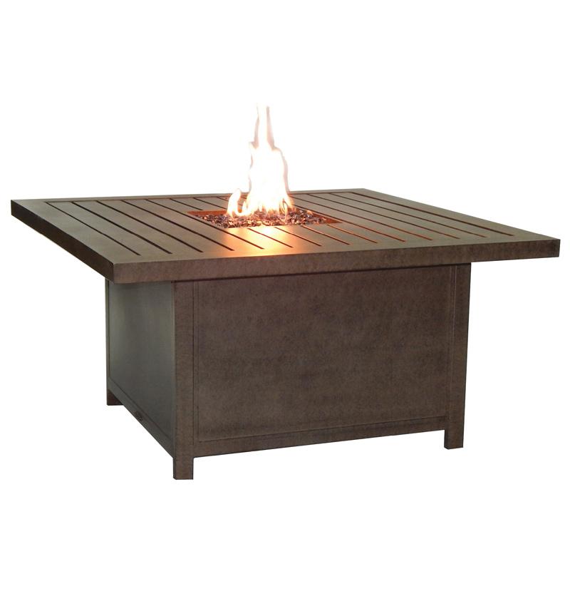 Moderna Rectangular Firepit Coffee Table Costa Rican