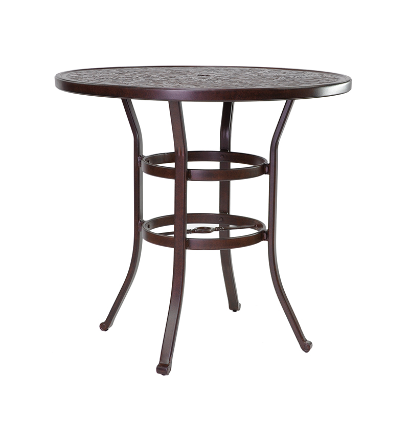 VINTAGE ROUND BAR HEIGHT TABLE Costa Rican Furniture