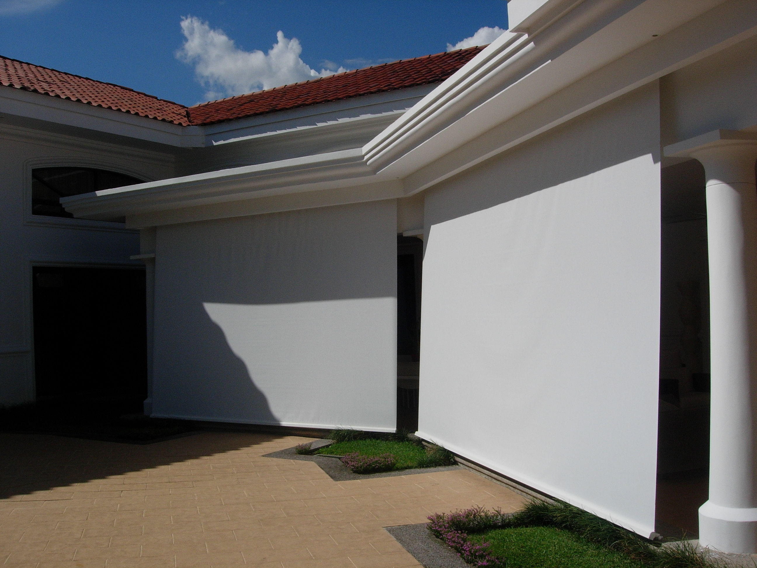 Outdoor Sun Blocking Roller Blind Costa Rican Furniture