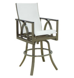 HERMOSA HIGH BACK SLING SWIVEL BAR STOOL