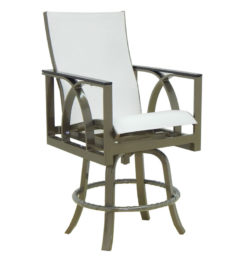 HERMOSA HIGH BACK SLING SWIVEL COUNTER STOOL