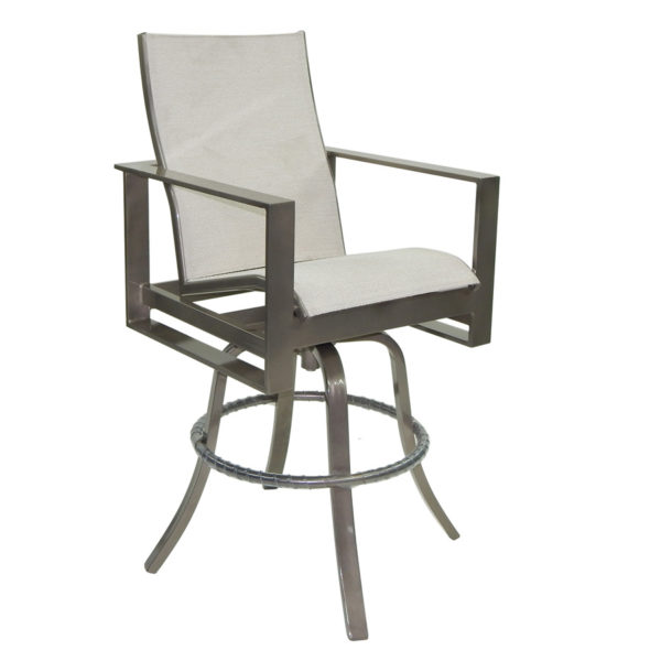 PARK PLACE METRO HIGH BACK SLING SWIVEL COUNTER STOOL