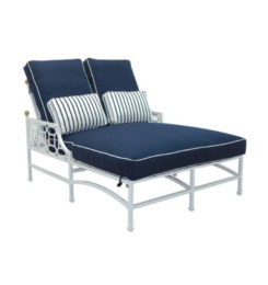 BARCLAY BUTERA CUSHIONED DOUBLE CHAISE LOUNGE