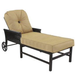 ENGLISH GARDEN CUSHIONED CHAISE LOUNGE