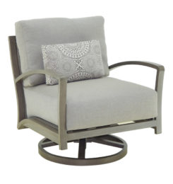NAPOLI CUSHIONED LOUNGE SWIVEL ROCKER