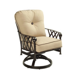 Veranda Cushioned Dining Swivel Rocker
